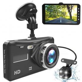 DrPhone DUOCAM-HD - Dashcam - Full HD 1080P 4 Inch IPS DVR - Auto Camera Lens Dash Cam Nachtzicht - Parkeer Monitor