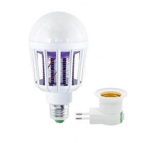 DrPhone MKL1 E27 9W 220V Led Muggen Killer Lamp – Energielabel A- Anti-Muggen voor o.a Thuis/ Slaapkamer etc – Wit/Paars