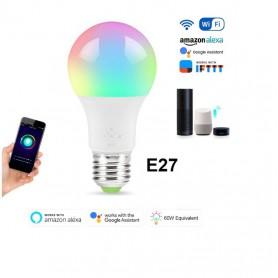 DrPhone SmartLED® - Dimbaar E27 LED Bulb - Smart Lamp - 6W - RBG+W + Wifi - Smart Home - Alexa / Google Home Led Lamp