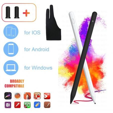 DrPhone Ultima3 Actieve Stylus Pen - Magnetisch – 1.9mm voor o.a Windows / Android en IOS - Wit
