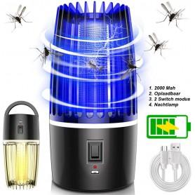 DrPhone UMKL1 UV - Oplaadbare Electrische Mosquito/Muggen Killer + NachtLamp - 2000mAh-batterij