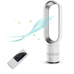 DrPhone Ryze WindForce Ventilator - Bladeless Fan - Torenventilator - Electrische Ventilator - 16 Inch - 50W - 8000RPM - Wit