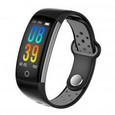 DrPhone V9 PLUS - Touchscreen Stappenteller - Hartslagmeter -Activitytracker - Smartwatch met Slimme functies - Zwart