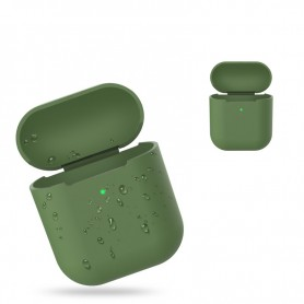 DrPhone Siliconen Airpod Case – Geschikt voor Airpod 1 & 2 – Bescherming tegen Val & Stootschade – Groen
