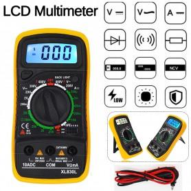 DrPhone Digitale Multimeter - Digitale display & Achtergrondverlichting - Voltmeter - Verbindingsmeter - Voltage - Ohm meter