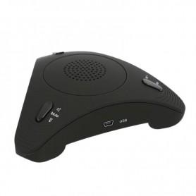 De DrPhone ConferX - Voip Converence speaker - Conferentie Speaker - Vergaderen - Hi-Fi versterker - Ruisonderdrukking - Zwart