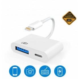 DrPhone CPro - Lightning naar USB Camera-adapter - USB 3.0 - OTG Chip Upgrade - Lightning Vrouwelijke adapterkabel met USB Data