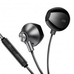 DrPhone M9 In-Ear Metalen Oordoppen – High Res – Sterk Bekabeld – Ruisonderdrukking – Zwart