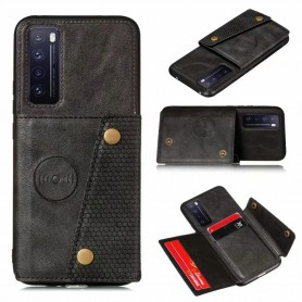 DrPhone LPU S20 - Luxe PU - Lederen Siliconen Case - Samsung Galaxy S20 - magneet functie -kaarthouder – zwart