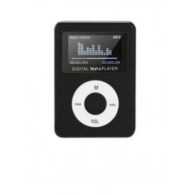 DrPhone X4 Mp3 Mini voor KIDS – Music Player – Led – Aux – Usb – Lcd Sn Display – Muziek Media Speler- Zwart