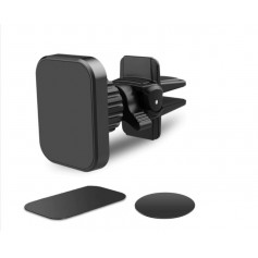 DrPhone AVH1 Draaibare 360 Graden Auto Ventilatie Houder met Twist-Lock systeem - Sterk Magneet + 2FM sticker