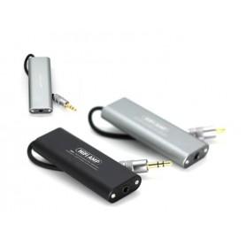 DrPhone AMP1 Draagbare HiFi-Hoofdtelefoon versterker- Amplifier – Audioversterker - 3,5 mm Aux – Grijs