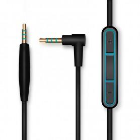 DrPhone BS1 - Audio Kabel - 2.5mm Jack naar 3.5mm Jack - Zwart - 1.35m - Aux - Microfoon - Bose Quietcomfort 25/35