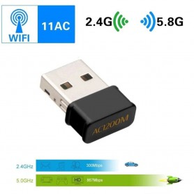 DrPhone W10 - Nano AC1200 Wifi Adapter Dongle 1200Mbps 2.4G & 5G Dual Band Wireless Wifi Ontvanger Voor Laptop Desktop
