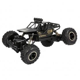 DrPhone RCX - RC Auto - 1:16 - 4WD - Off Road - Remote Control Auto met Accu - Aluminium Materiaal met Veren - Zwart