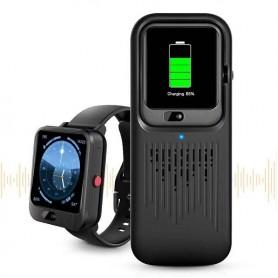 DrPhone Smart Watch S1 - Speaker – 4G – WIFI - GPS Smart Watch - Smart horloge – Muziek Speler - Zwart