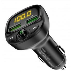 DrPhone BC13 - Draadloze Car Kit - 2021 - FM-zender Radio / Auto Oplader / MP3 Speler Mobiel / Handsfree Bellen in de Auto /