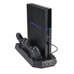 DrPhone RXR Dual PS4 Controller USB Charging Stand And Console Cooler – USB Charging – PS4 –