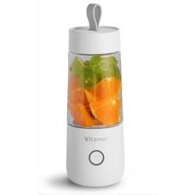 DrPhone V6 Portable Shaker – Juice Shaker – Mixer – Drink en Shake – On The Go – Gym - Shaker – Proteïne en fruit- Wit