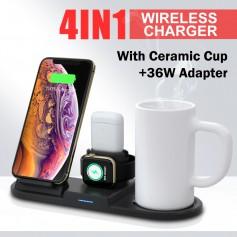 DrPhone - Draadloze oplader - Thermostatische lader - Mobiele lader - Koffiewarmer