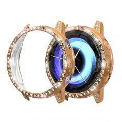 DrPhone GA1 – Samsung Galaxy Active 2 - 44MM - Watchband TPU Case - Diamanten Hoesje - Roze Goud