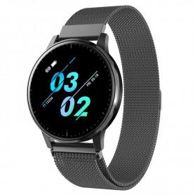 DrPhone V20 Class - Horloge + Smartwatch - 1.3 Inch Kleurenscherm - Stappenteller - Hartslagmonitor - Touchscreen - Zwart