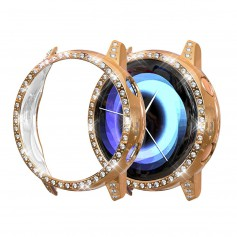 DrPhone GA1 – Samsung Galaxy Active 2 - 40MM - Watchband TPU Case - Diamanten Hoesje - Roze Goud