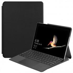 DrPhone Genos - Surface X Cover / Hoes - PU Leder + Zachte Microfiber Case - Volledige Bescherming - Zwart