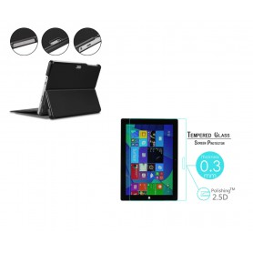 DrPhone PRO N1 - Surface Set - 2 in 1 - Surface Pro 3/4/5/6/7 Glas + Smart Cover - Zwart
