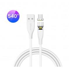 DrPhone OMNIA 540° - USB-C Magnetische Oplader 9V 2A (Qualcomm Compatibel) Type-C USB kabel – Premium Oplaadkabel