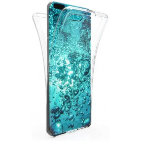 DrPhone Huawei P40 PRO Dual TPU Case - 360 Graden Cover - Voor en Achter Volledig Bescherming - Transparant ( Geen Stippels)