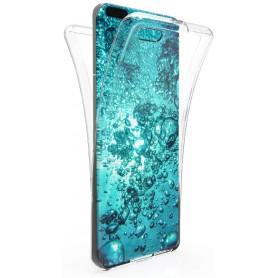 DrPhone Huawei P40 Dual TPU Case - 360 Graden Cover - Voor en Achter Volledig Bescherming - Transparant ( Geen Stippels)