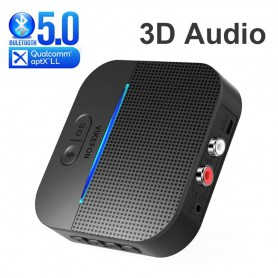DrPhone SKYLINK V3 - 50M Bluetooth 5.0 RCA - APTX Ontvanger / Receiver 3D Surround & Aptx Ll - 3.5Mm Aux Jack - Audio Adapter