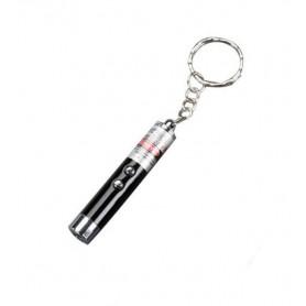 DrPhone LS9 – 2 in 1 Rode Laser – Pen Pointer - Sleutelhanger met Zaklamp – Kat/Hond Speelgoed