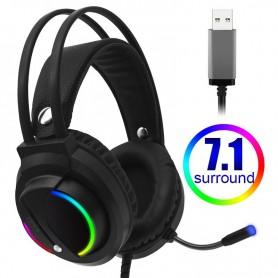 DrPhone RGB 7.1 – Surround Sound - RGB – Gaming Headset – Esports Headset – USB -Playstation – Xbox - PC