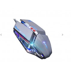 DrPhone Gaming Muis Verstelbaar 3200 DPI - 6 Knoppen Optische hoogwaardige USB Wired Game Muis - Zwart/Goud