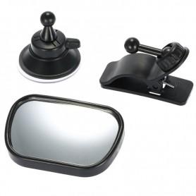 DrPhone BVM Series – 2 In 1 – Baby Spiegel - Auto Spiegel – 2 standen – Zwart – Mirror View – Zwart