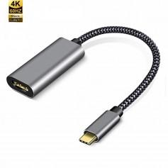 DrPhone HDC1 - USB-C Naar HDMI Kabel 4K 60Hz - Type-C Adapter - Voor Macbook / iPad / Surface - Thunderbolt 3 Compatibel