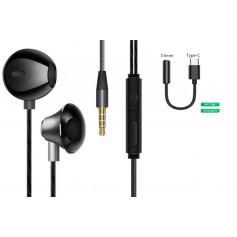 DrPhone M9P - In-Ear Oordoppen - USB-C + 3.5mm DAC Adapter - High Res – Earphones – HiFi – Zwart