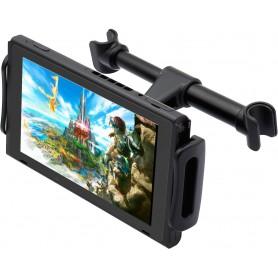 DrPhone CB2 Nintendo Switch Autohouder Hoofdsteun - Verstelbaar – 360 Graden Roteren- Zwart