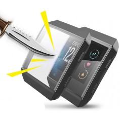 DrPhone IO2 Fitbit Ionic TPU Volledige Beschermhoes - Flexibel - Screen Protector Case -Krasbestendig – Zwart