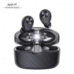 DrPhone GearX10 Pro - Draadloze Earbuds met oplaadcase – Bluetooth 5.0 – Capsulevorm - Zwart