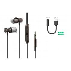 DrPhone Aero In-Ear - Vliegtuig Metalen Magnetische Bedrade Oordoppen - 3.5mm AUX - Microfoon - Aluminium Oortjes - RoseGoud