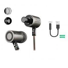 DrPhone KZ4® HiFi In-Ear - 3.5mm Jack - Hi-Res met BASS Oortelefoon met microfoon & Geluidsisolerende Oordoppen - Gun Gray