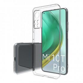 DrPhone Xiaomi Mi 10T TPU Hoesje - Ultra Dun Premium Soft-Gel Case met volledige Camera bescherming- Transparant