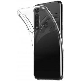 DrPhone Moto G8+ (PLUS) Hoesje - Ultra Dun Premium Soft-Gel Case - Transparant