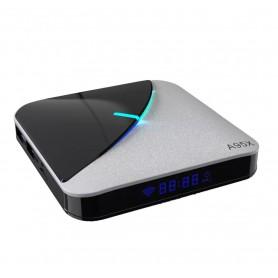 DrPhone KODI03 – Mini TvBox A95X - Rgb Licht Tv Box - 32Gb Opslag - Wifi - 4K Smart Tvbox – Bluetooth