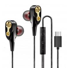DrPhone ET01 – Oortjes - DualDynamische Drivers - Usb C In-Ear Oordopjes