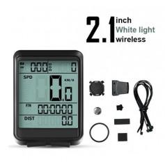 DrPhone FCS2 Draadloze Fietscomputer – Snelheidsmeter – Kilometerstand/Teller –Stopwatch – ODO en meer - Zwart