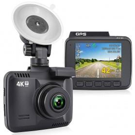 DrPhone DC2 Dash Cam 4K - Ingebouwde WiFi - GPS – Camerarecorder 2,4-inch LCD + APP
